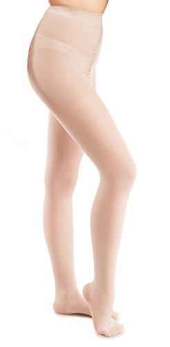 GABRIALLA Sheer Pantyhose, Compression (20-22 mmHg) Nude, Petite