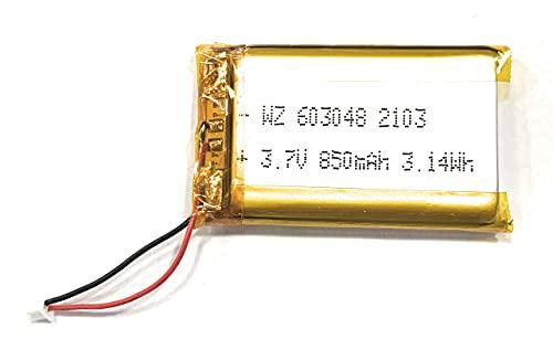 YUNIQUE ITALIA 1 Pezzo Batteria Ricaricabile ai polimeri di Litio da 3,7 V 850 mAh 603048 agli ioni di Litio per MP3 MP4 GPS Banca di Alimentazione Rasoio Altoparlante Bluetooth Fotocamera LED