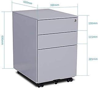 Classeurs WHLONG Made in Lock Universel Roue de prévention des incendies avec 3 tiroirs Box Bureau Creative Armoire de Ran...