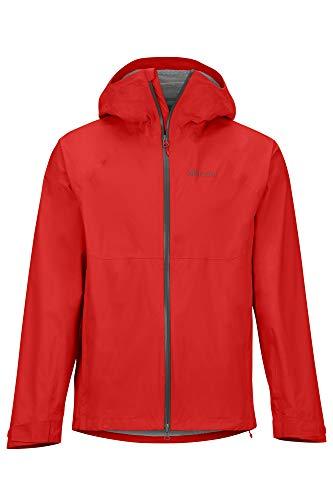 Marmot Herren Hardshell Regenjacke, Wasserdicht, Winddicht & Atmungsaktiv PreCip Stretch Jacket, Victory Red, M, 41130