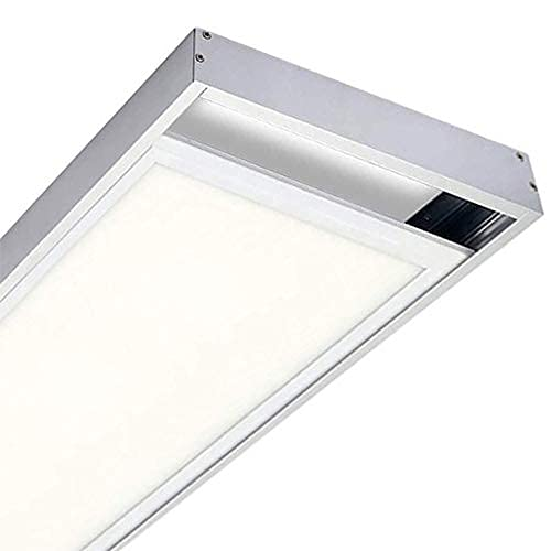 Kit Panel Led 120x30cm + Soporte Superficie. 48w. Color Blanco Frio (6500K). 4400 lumenes. Driver incluido. A++