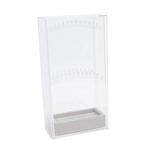 Pratico porta gioielli salvaspazio grande contenitore portagioie materiale PP pratico bagno camera da letto da viaggio per la casa(Single door transparent)