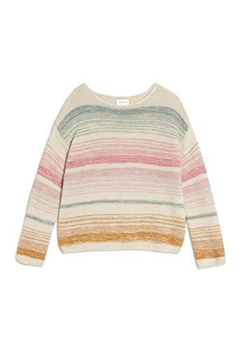 ARMEDANGELS dames pullover uit bio-wolmix - Konaa Stripes - 75% katoen (bio), 25% wol (kbt) gebreide trui ronde hals