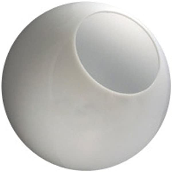 14 In White Acrylic Globe With 5 25 In Neckless Opening American 3201 14020 003