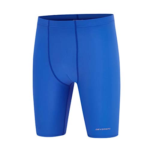 Devoropa Boys' Swim Jammers Youth Competitive Swim Team Suit Quick Dry Athletic Swimming Shorts UPF 50+, Royal Blue, Youth Medium(US 10-12)