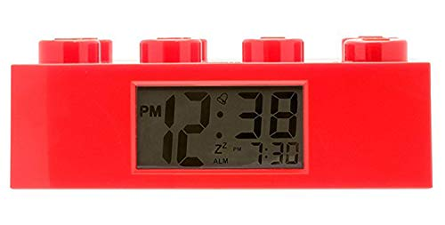 Lego 9002168 Red Brick Kids Light Up Alarm Clock | red | Plastic | 9.5...