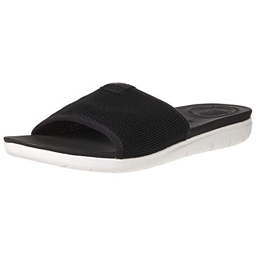 FitFlop Uberknit Slide Sandals Black 9