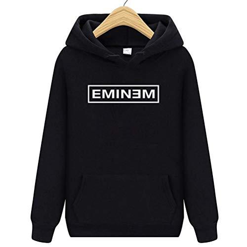 Xdsy Eminem Sudadera con Capucha Estampada Estilo Hip-Hop Sudadera con Capucha Chaqueta Deportiva con Capucha,1,L
