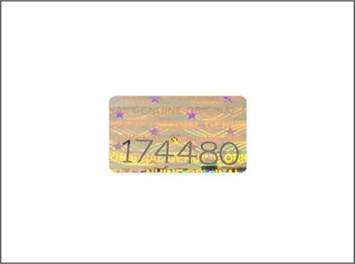Holomarks 200 St. Hologramm Etiketten mit Seriennummern, Garantie Siegel Aufkleber 16x10mm
