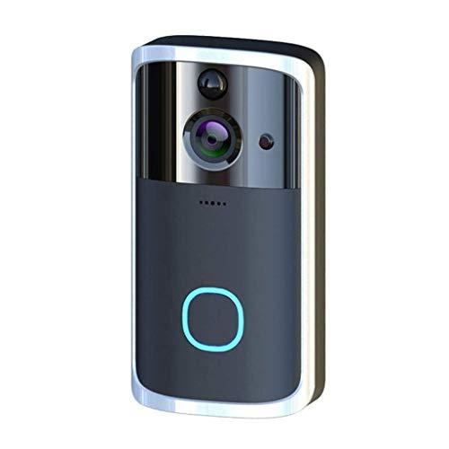 JEONSWOD El video del timbre del intercomunicador, inteligente timbre de la puerta, cámara de alta definición Wi-Fi Seguridad, PIR de detección de movimiento de vídeo de la visión nocturna, la aplicac