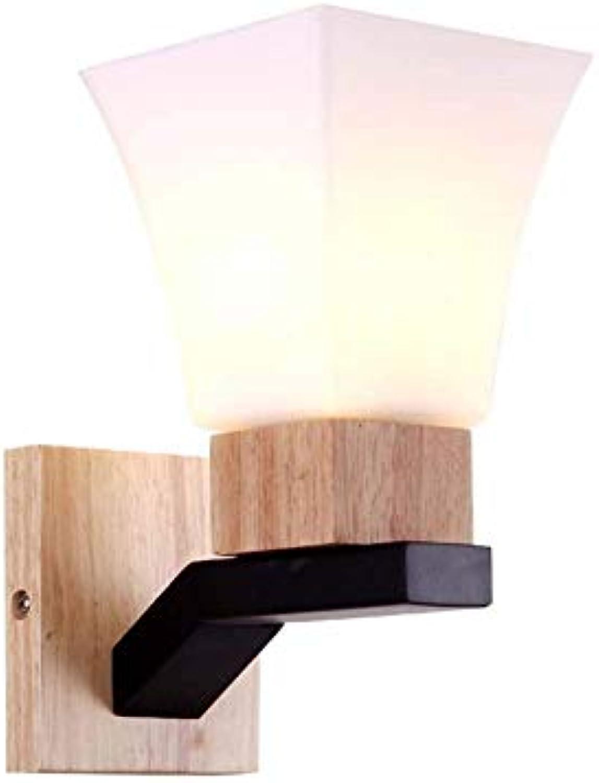 Aussenlampe Wandbeleuchtung Wandlampe Wandleuchte Innen Moderne Hlzerne Esszimmer-Wandlampe-Einfaches Kreatives Glas
