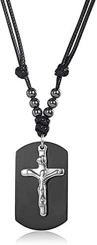 Aluyouqi Co.,ltd Halskette 2 Teile/Satz Edelstahl Kreuz Anhänger Halskette Für Männer Frauen Layered Punk Kühlbox Gliederkette Halskette Gold Farbe