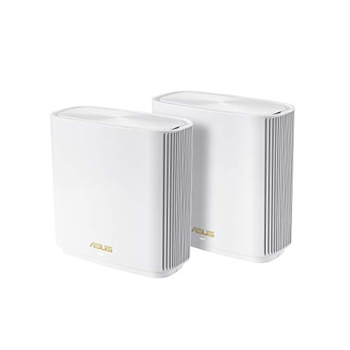 ASUS ZenWiFi AX6600 Tri-Band Mesh WiFi 6 System (XT8 2PK) - Whole Home Coverage up to 5500 sq.ft & 6+ rooms, AiMesh, Included Lifetime Internet Security, Easy Setup, 3 SS - $377
