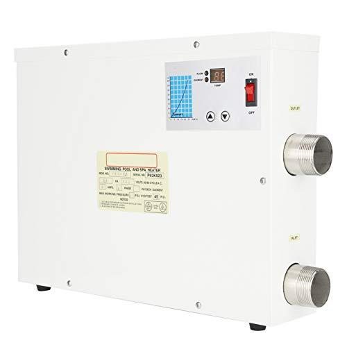 Atyhao 5.5KW Elektrischer Warmwasserbereiter Automatischer Zirkulationsthermostat für Schwimmbad SPA Whirlpool 380V Warmwasserbereiter Teile
