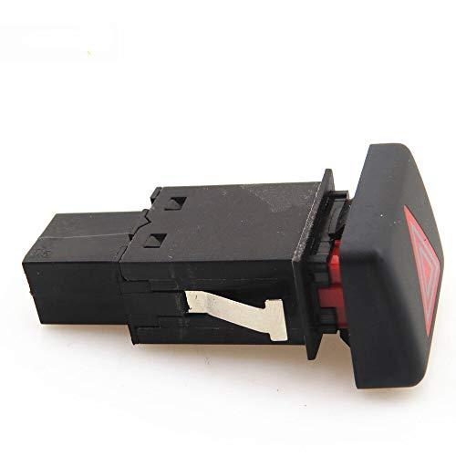 SGYANZLG Peligro Rojo Advertencia lámpara de Emergencia con Doble intermitencia de Alarma Interruptor de la luz del botón/de Ajuste for el RS4 A4 S4 8ED 941 509 5PR 8ED941509