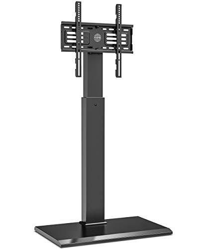 FITUEYES Soporte de suelo para TV con base de hierro para pantalla de 27 a 55 pulgadas Altura giratoria ajustable Soporte 40 kgs Max VESA 400x400 mm FT-S1601MB