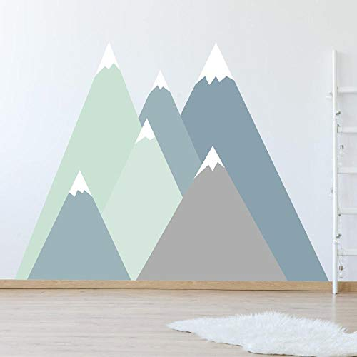 Abnehmbare Berg Wandtattoo, Für Baby Kinderzimmer Wanddekor Diy Stick Wandbild Aufkleber Dekorative Malerei 213X132 Cm
