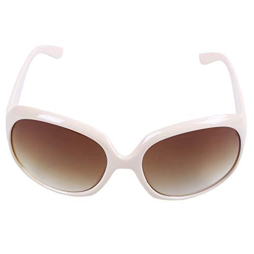 TOOGOO Grandes Gafas de Sol Clasicas de Moda y Sexy para Mujeres Gafas de Compras Beige