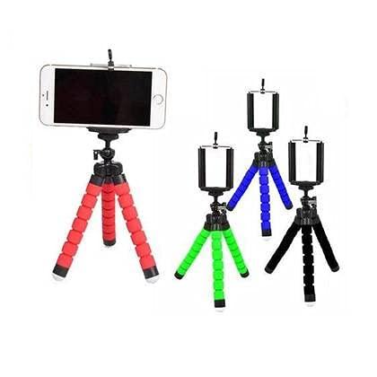 Tripé Para Celular Flexivel E Camera verde