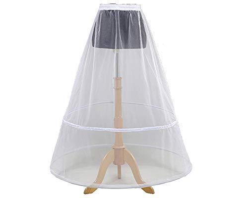 Loywe, Reifrock Petticoat aus Satin, 2 Ring, Taille Umfang bis 110cm, LW4809-W-X