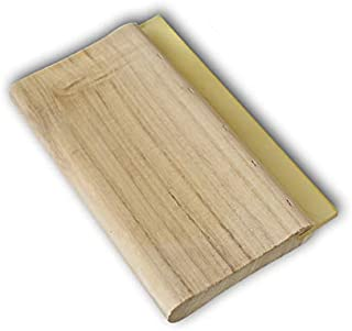 INTBUYING Screen Printing Squeegee Ink Squeegee Scraper 13 inches Long Wooden Scraper 65 Durometer 4 inches Wide