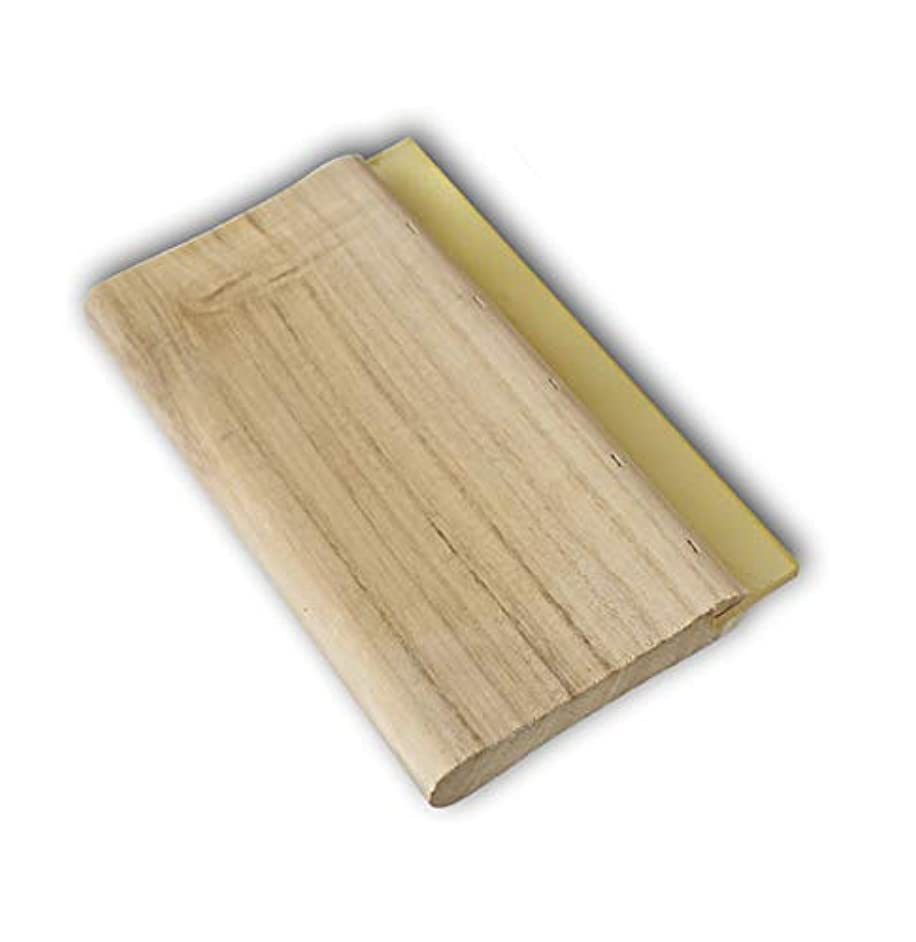 INTBUYING Screen Printing Squeegee Ink Squeegee Scraper 18 inches Long Wooden Scraper 65 Durometer 4 inches Wide