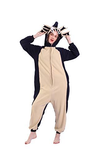 DarkCom Onesies Pajamas Adult Animal Costume Blue Angler Fish Cosplay One Piece Unisex Homewear Polar Fleece Sleepwear