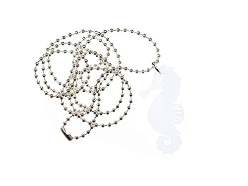 Miniblings Seepferdchen Kette Halskette 80cm Seepferd Ozean Aquarium Meer LC