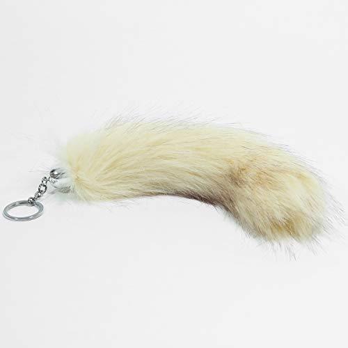 graent Fuchsschwanz - Schlüsselanhänger/Anhänger aus Kunsthaar - ca. 25 cm Länge