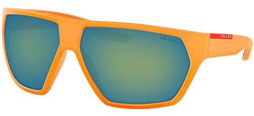 Prada LINEA ROSSA 0PS 08US Gafas de sol, Fluo Orange Rubber, 66 para Hombre