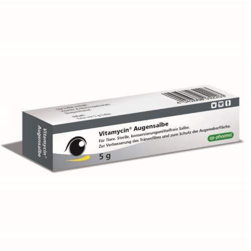 cp-pharma Vitamycin Augensalbe 5g zur Augenpflege für Hunde, Katzen und Pferde