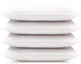 DOWNLITE 4 Pack Hotel Style Hypoallergenic Down Alternative Value Pillow - Soft/Medium Density - Jumbo 20