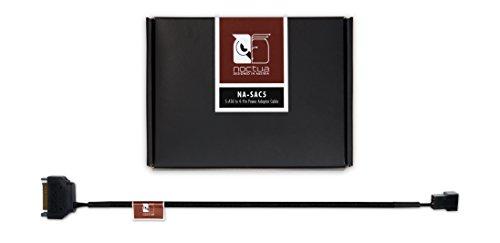 Noctua NA-SAC5, Cable Adaptador para Ventiladores con Interfaz de Trasferencia S-ATA para 4 Pines (Negro)