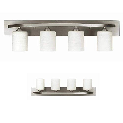 Vanity Bath Light Bar Interior Lighting Fixture (Brushed Nickel, 3 Lights)