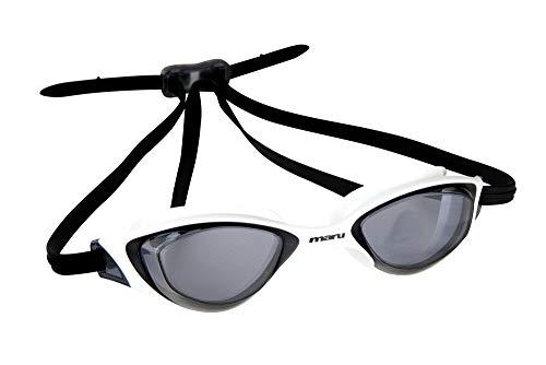 maru Sonar Anti-Fog Schwimmbrille, weiß/schwarz, Einheitsgröße