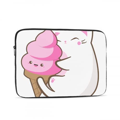 Mac Book Pro Case Cute Ice Cream Cat Cartoon Macbook Case Multi-Color & Size Choices10/12/13/15/17 Inch Computer Tablet Briefcase Carrying Bag