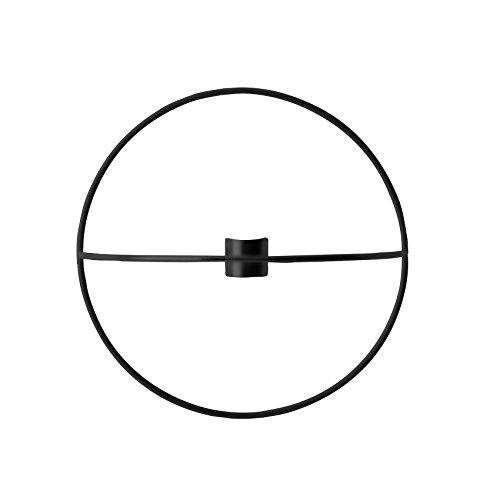 Menu POV Circle Wandkerzenhalter S, schwarz pulverbeschichteter Stahl H 12cm, Ø 20cm