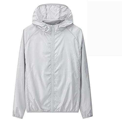 Hong Yi Fei-Shop Protección Camisa de la Chaqueta de Manga Larga para Hombre Rash Chalt UV Protección Solar Top Natación de la Camiseta para Correr Surfing Senderismo Deportes Pesca