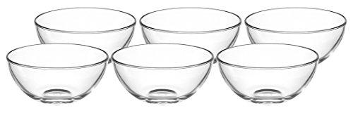 Leonardo Cucina Schale, 6-er Set, 540 ml, Durchmesser 14 cm, mikrowellengeeignet, Klarglas, 066326