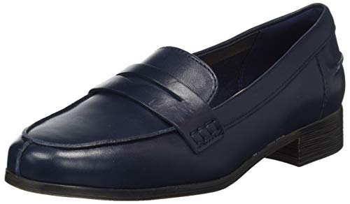 Clarks Hamble Loafer, Mocassins Femme, Bleu (Navy Leather Navy Leather), 40 EU