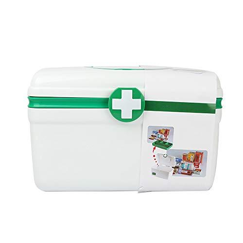 aoory Medizinaufbewahrung Erste-Hilfe-Set, Medizinzubehör, Aufbewahrungszubehör, Medizin-Box grün