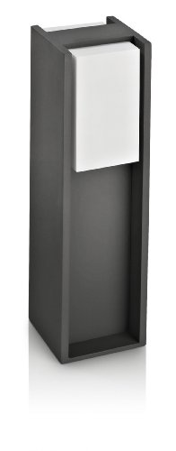 Philips Bridge Lighting pedestal/sobremuro, resistente a la intemperie, color antracita, IP44