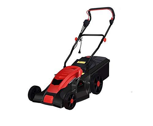 Elektrischer Rasenmäher mit 1500 Watt, kleiner handgehaltener Rasenmäher für den Haushalt, scharfes Hochgeschwindigkeitsmesser, geräuscharmer Rasenmäher A,1500W