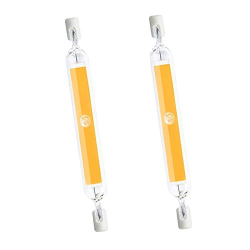 20W R7S 118mm LED-Stablampe Warmweiß 3000K, 360-Grad-Beleuchtung, Ersatz für R7S J118 200W Halogenstab, 2000LM, Dimmbar, R7S 118mm COB LED als für Flurbeleuchtung, 2er-Set