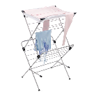 Polder 2-Tier Mesh-Top Clothes Drying Rack | The Container Store
