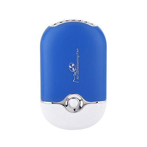 Mini Ventilador USB silencioso Ventilador de Mesa de Oficina hogar pequeño Aire Aire Acondicionado portátil imitar frigorífico función Fan con batería Recargable