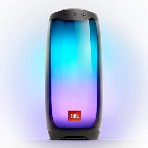 JBL Pulse 4 Waterproof Portable Bluetooth Speaker with Light Show - Black (Renewed)