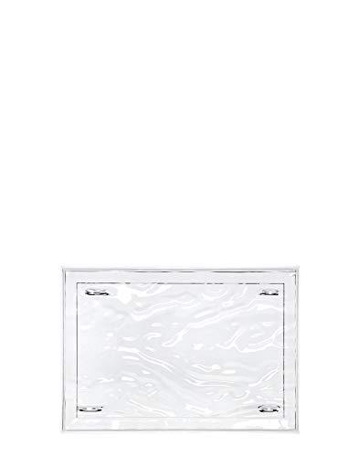 Kartell Plateau Dune Petit, Plastique, Transparent, 46 x 32 x 2.5 cm