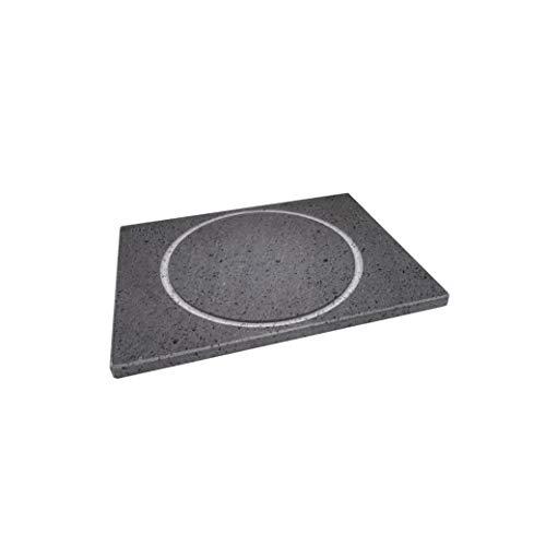 Piedra de piedra para pizza de 40 x 30 x 2 cm y pala de regalo, piedra volcánica etnea, placa lijada para horno para la cocción de pizzas, pan y postres, Etna Stone & Design