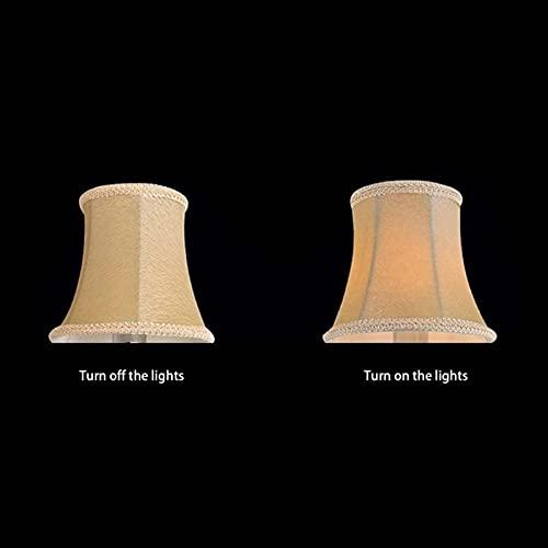 YSDSPTG Tulipa de lámpara Nueva Pantalla clásica de la lámpara de Cristal lámpara de lámpara Especial Cubierta de Tela Exquisita Cubiertas de Tela E14 Cubierta de Tela de Cubierta (Body Color : 802)